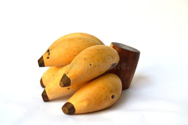 Wood bananas royalty free stock photos