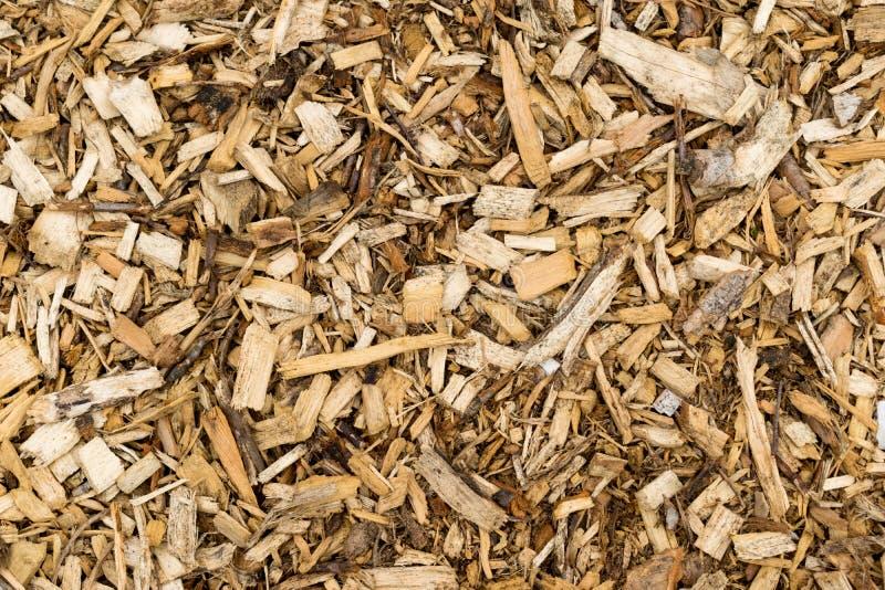 Wood Bark Chip Mulch. Full Background View stock photo