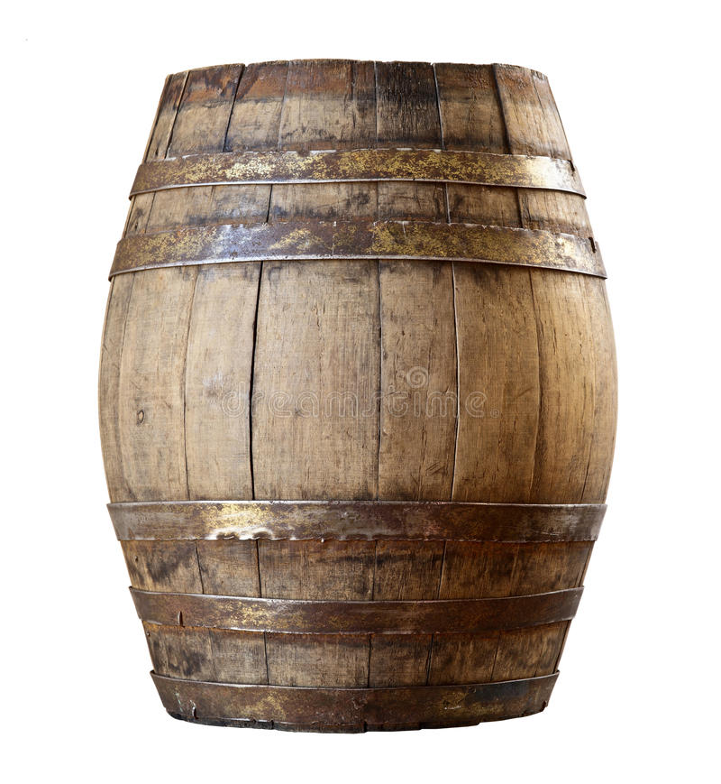 Download Wood barrel stock image. Image of object, wooden, isolated - 28510269