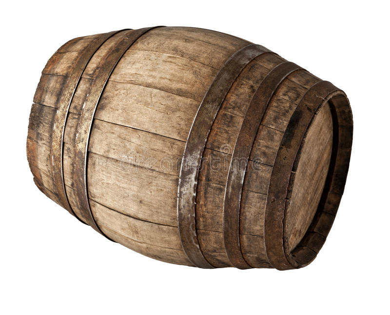 Wood barrel royalty free stock images