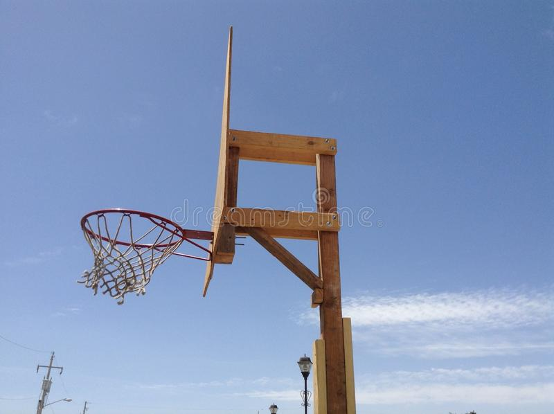 Wood basketball hoop royalty free stock photos