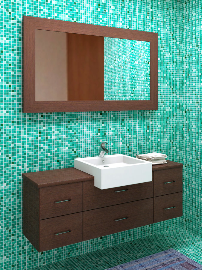 Wood bathroom vector illustration