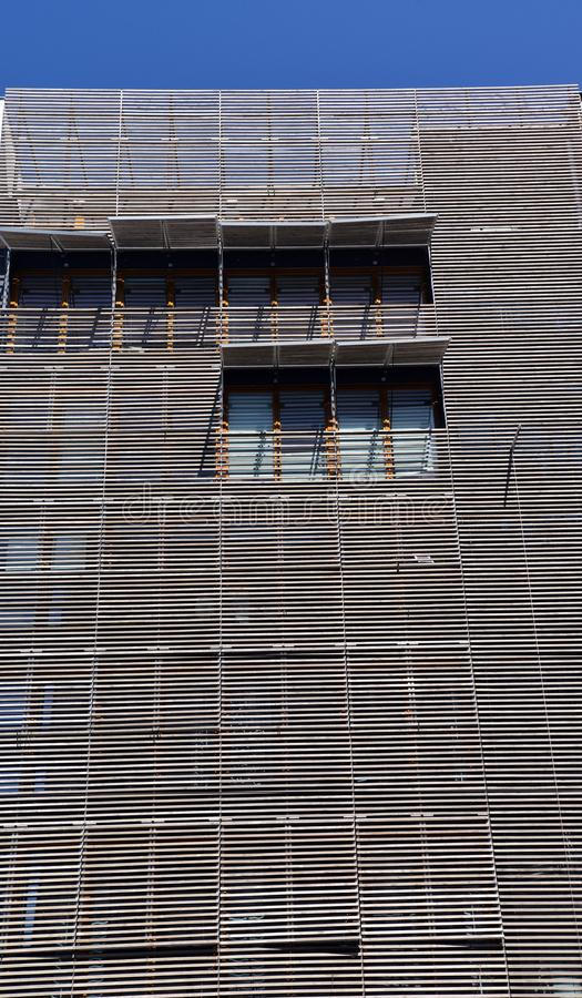 Modern contemporary architecture wooden facade royalty free stock image