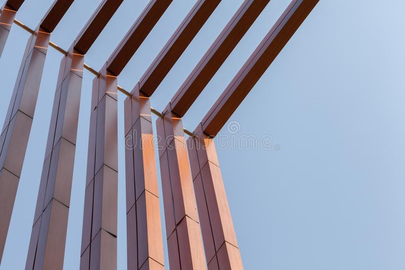 Wood battens slat of the building royalty free stock photos