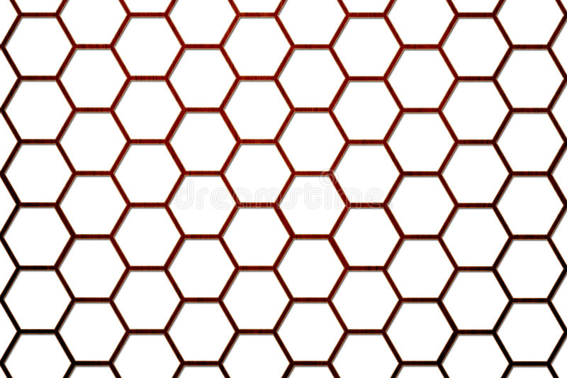 Wood Bee Hive Background Smaller Cells 2
