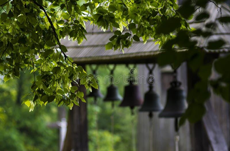 Wood belltower stock image