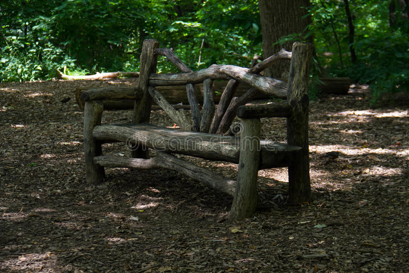 Wood bench under the shade. At the park royalty free stock images