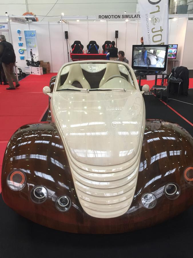Wood bil fotografering för bildbyråer