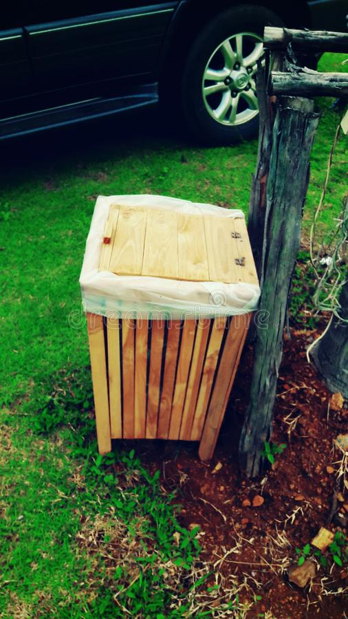 Wood Bin royalty free stock photography