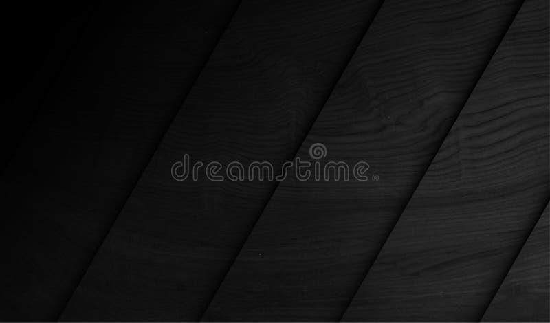 Wood Black Background royalty free illustration