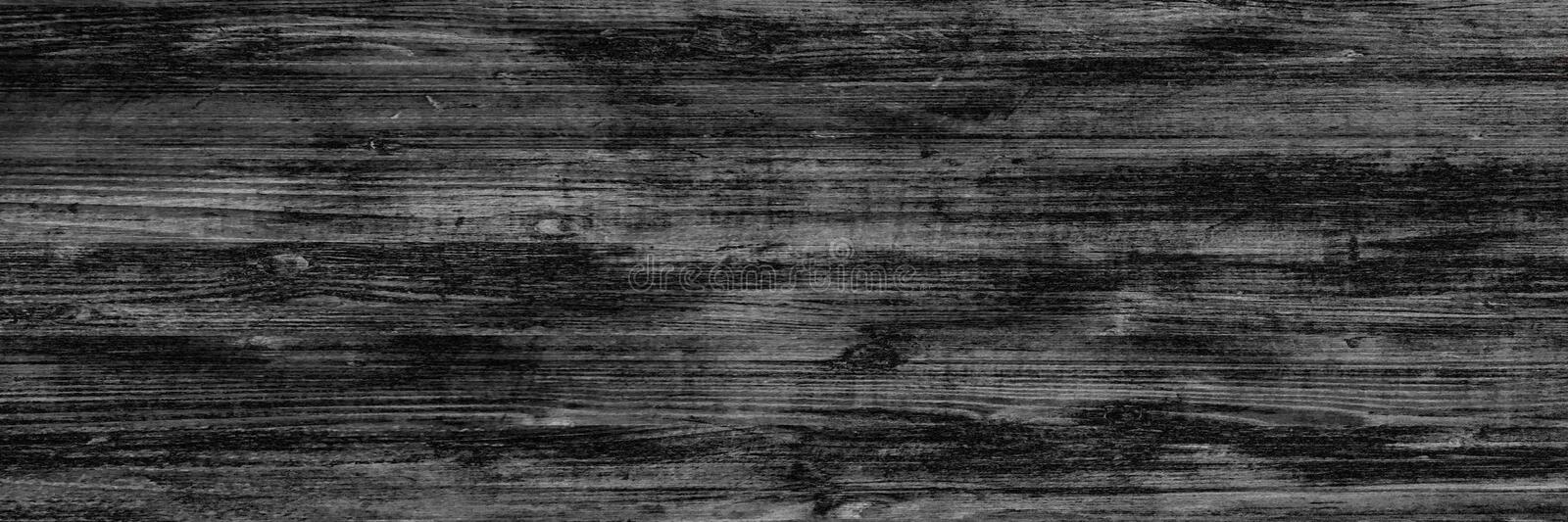 Wood black background, dark wooden abstract texture stock image