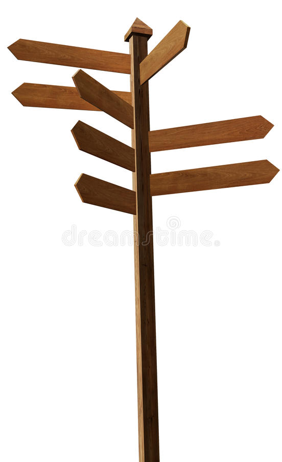 Wood blank sign post stock photos
