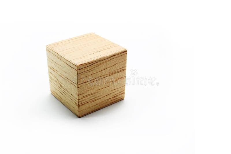 Wood block cube royalty free stock photo
