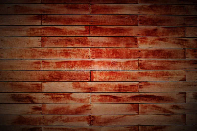 Wood Block Wall In Lomo Stock Images