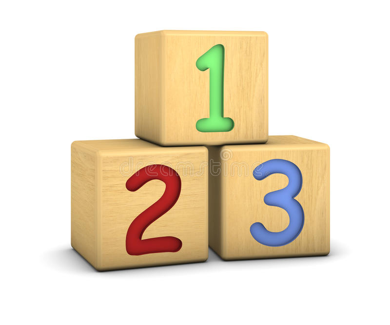Download Wood Blocks With 123 Numbers Stock Illustration - Image: 13654889