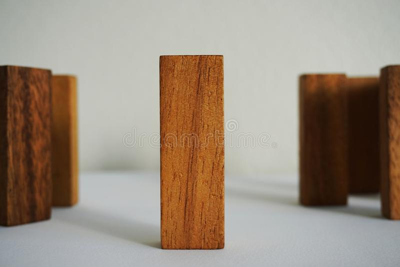 The Wood blocks stock photography