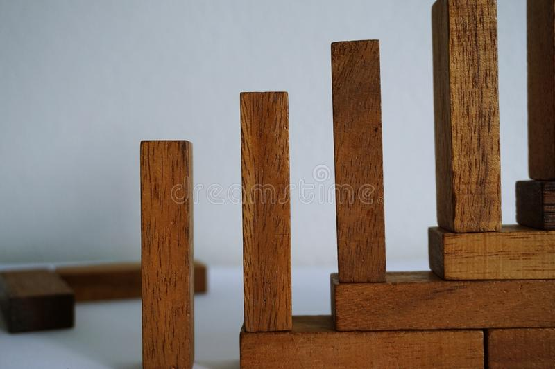 The Wood blocks. royalty free stock image