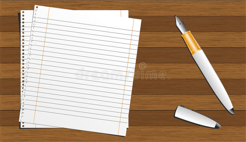 Download Wood board stock vector. Image of clip, page, notebook - 12249158