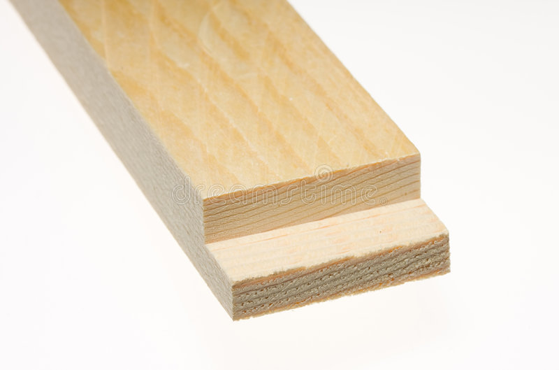 Wood board with sawn edge royalty free stock image