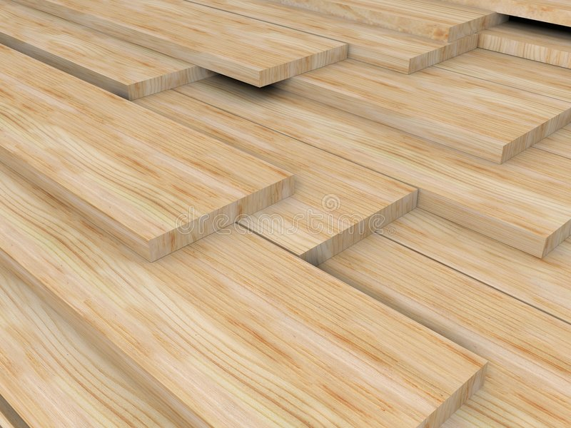 Wood boards vector illustration