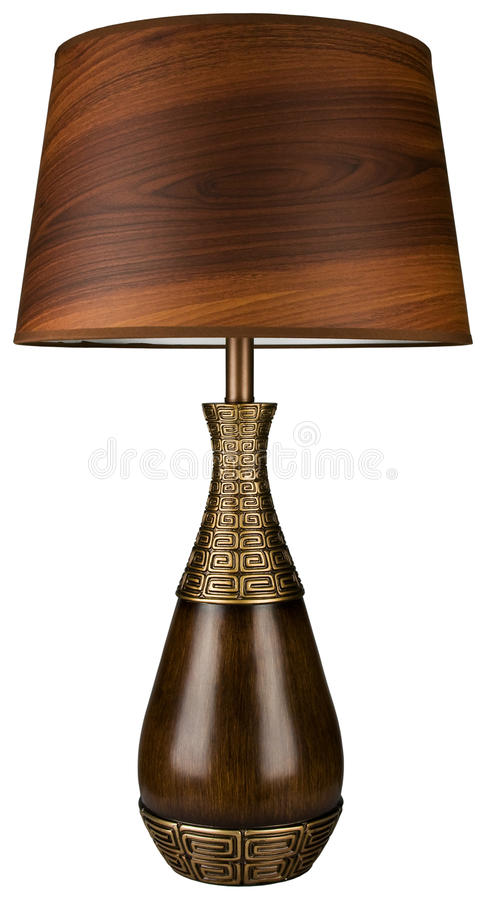 Download Wood And Brass Table Lamp Stock Photo - Image: 11110420