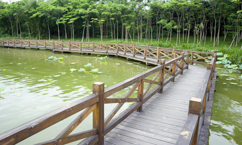 Download Wood bridge stock image. Image of passage, bridge, away - 14735747