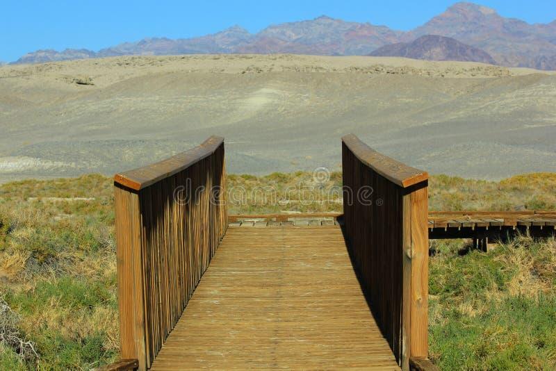 Wood Bridge Death Valley Royalty Free Stock Image