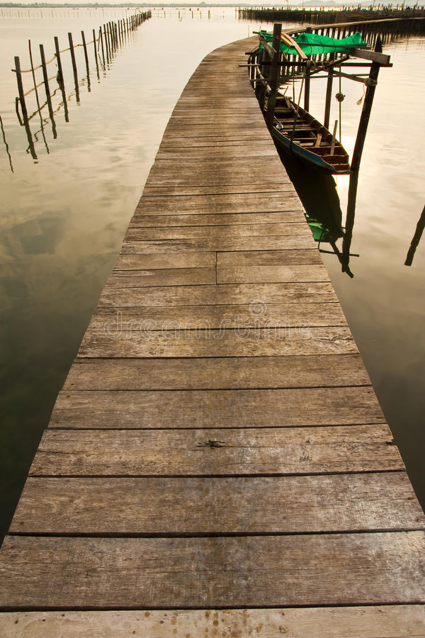 Download Wood Bridge To Fisherman House  In Sea, Thailand Royalty Free Stock Photo - Image: 11048495