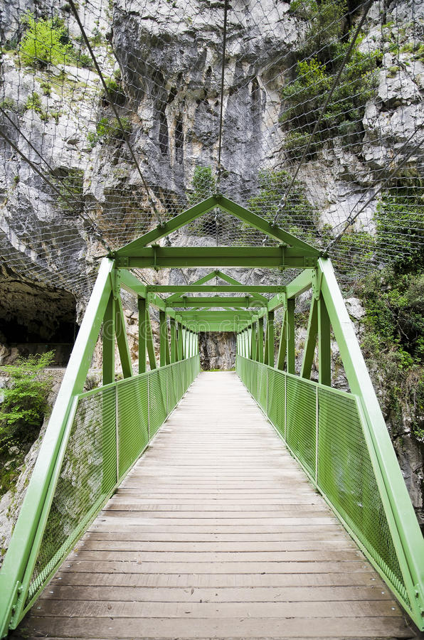 Download Wood Bridge Or Walkway Through The Mountain Stock Photos - Image: 25869233