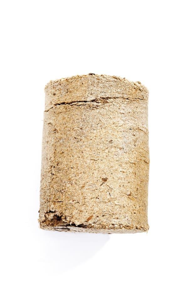 Wood briquette stock photography