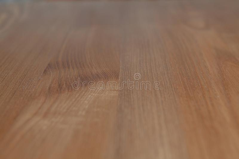 Wood brown grain texture, dark wood wall background, top view of wooden table stock photography