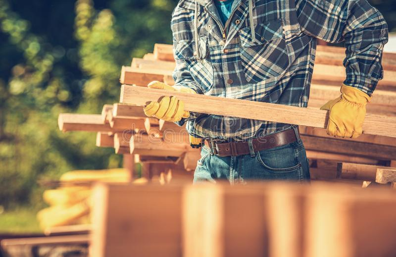 Wood Building Material royalty free stock photography