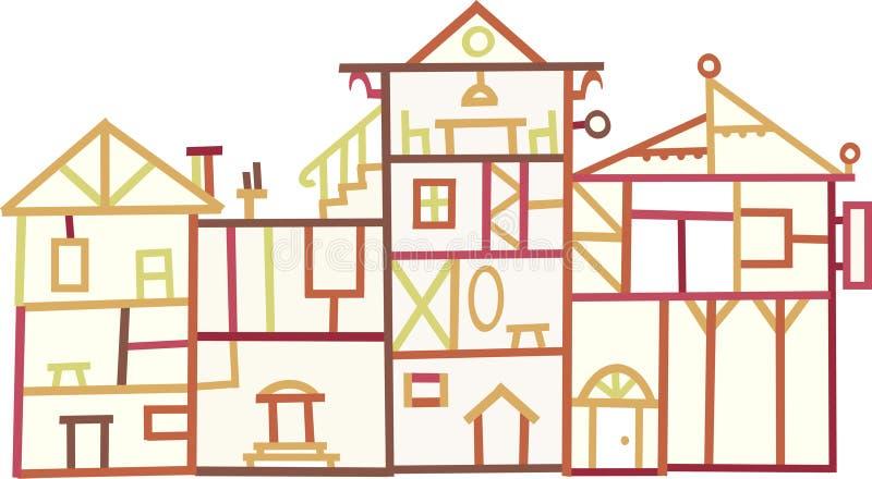 Wood buildings (vector)