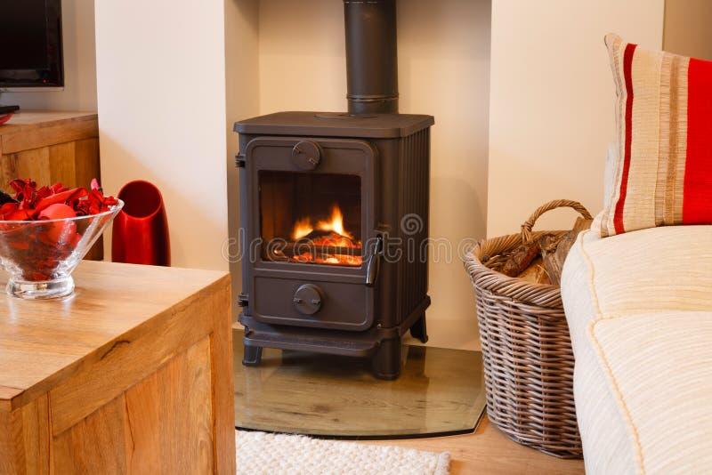 Wood burning stove royalty free stock photos