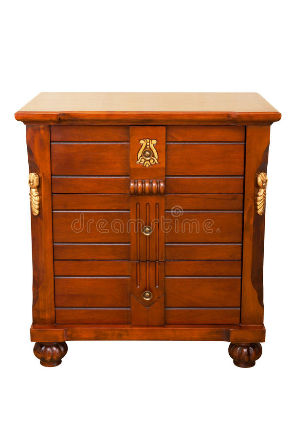Wood cabinet royalty free stock photos