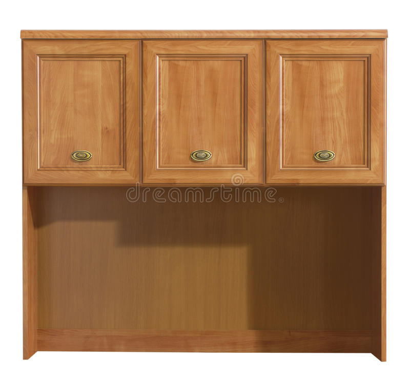 Wood cabinet. Isolated on white background stock photography