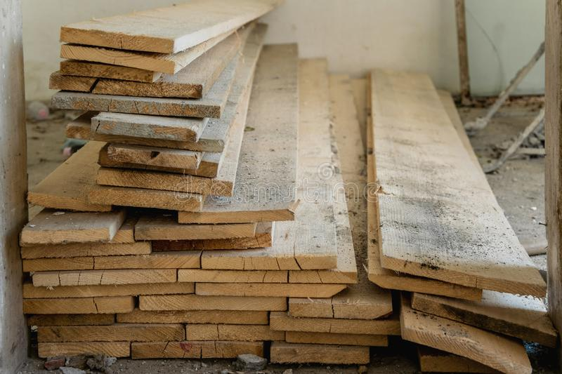 Wood carpentry boards for industry uses. Wood carpentry boards, industry material stock photos
