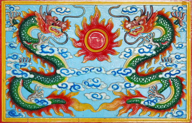 Download Wood carved dragon stock image. Image of temple, roof - 15357185