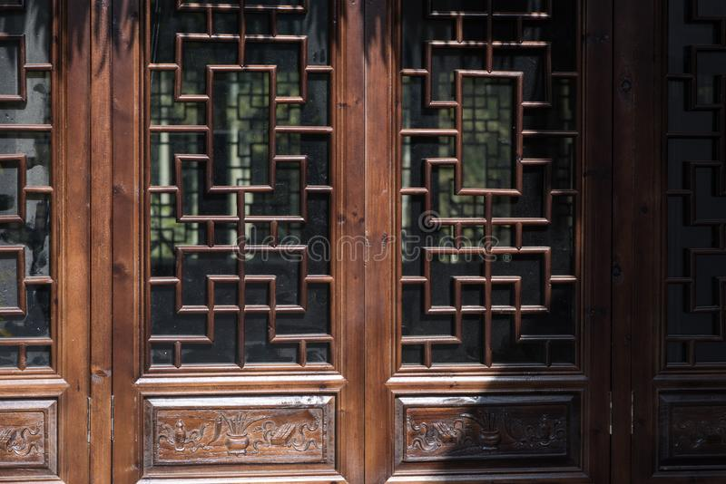 Wood carved window royalty free stock photography