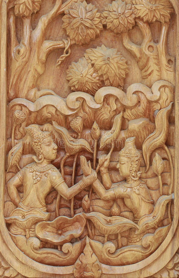 Wood carving royalty free stock photography