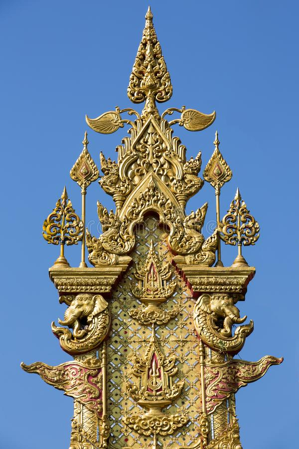 Wood Carving Art, The Celebrations on the Auspicious Occasion of His Majesty the King's Birthday Anniversary - Chiang Rai, stock images