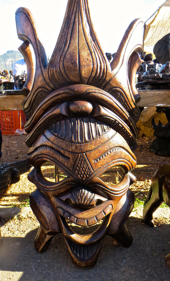 African Wood Carving Stock Photo