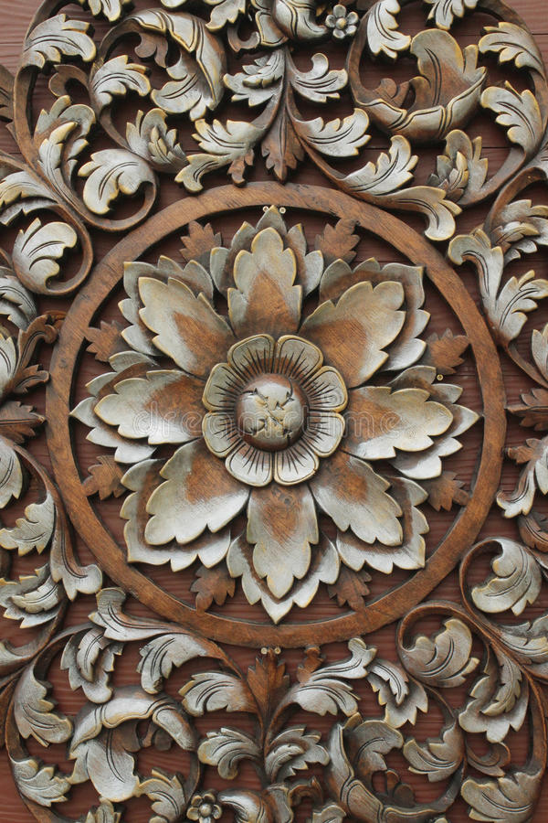 Wood carving patterns stock photo image of board flower