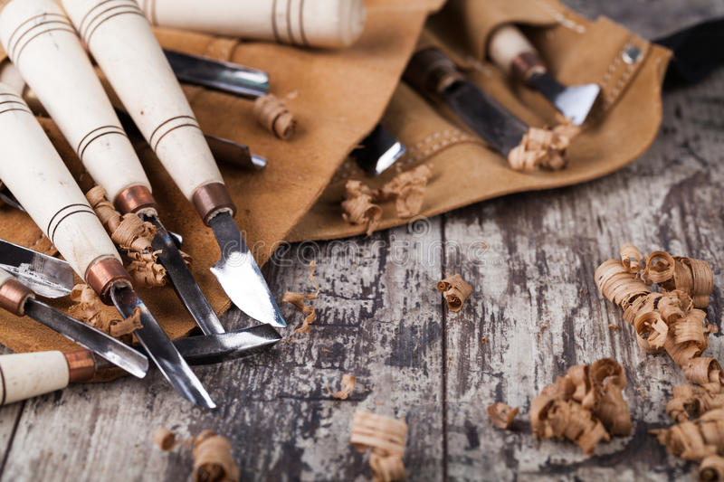 Download Wood carving tools stock photo. Image of carpenter, equipment - 46277588