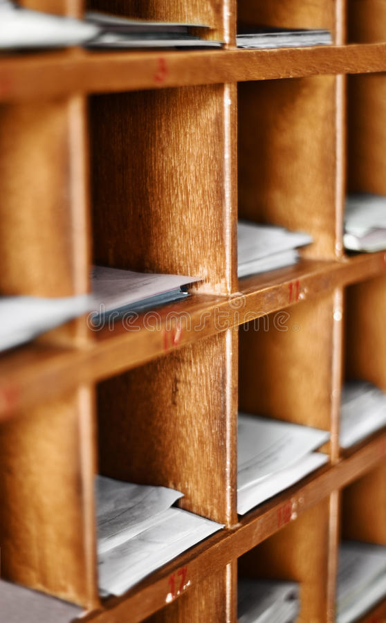 Download Wood Cells With Paper For Buddhist Divination Stock Image - Image: 25535825