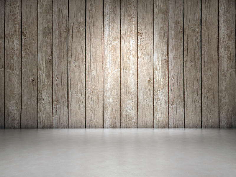 Wood and ceramic. Wood wall and ceramic floor background vector illustration