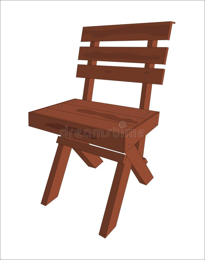 Wood chair furniture icon vector illustration