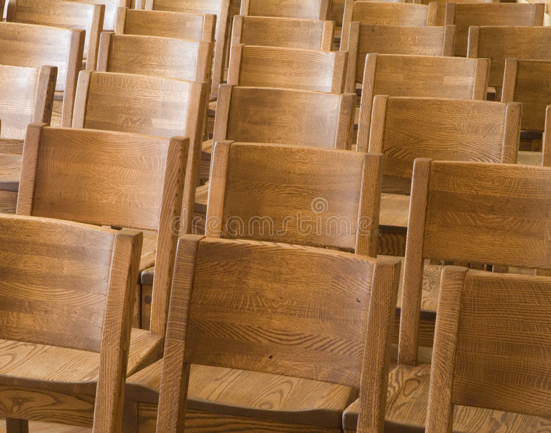 Wood chairs royalty free stock photos
