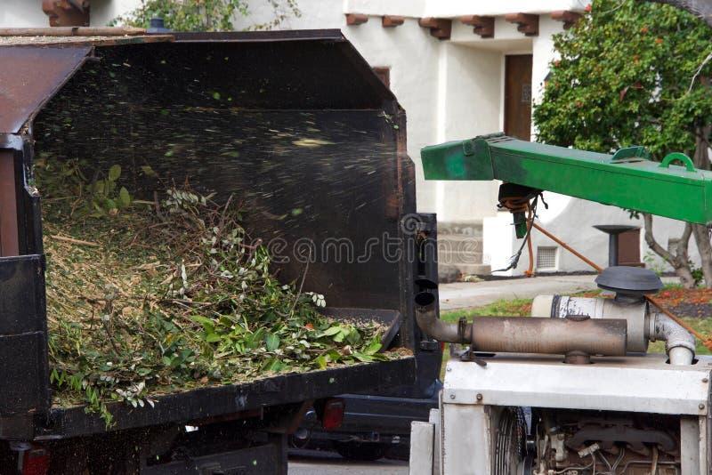 Wood chipper shredder  stock image  Image of felling - 128667935