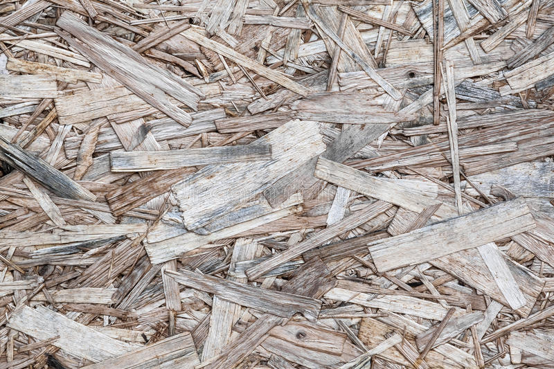 Wood Chippings. Vintage textured pieces of wood chips stock photo